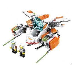Wange 55173 Star Wars MOC Attack Gunship Xếp hình Phi thuyền chiến đấu 1 người điều khiển 448 khối