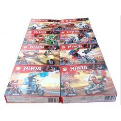 Sheng Yuan SY997 NinJaGo MOC 8 minifigures in 1 Xếp hình 8 nhân vật ninja kết hợp thành người máy lớn 488 khối
