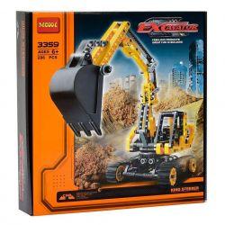 Decool 3359 3328 3324 Technic 8419 Excavator Xếp hình Máy Đào Đất 286 khối