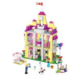 Lele 37007 Disney Princess MOC Anna's Pink Castle Xếp hình Lâu đài hồng của Anna 390 khối