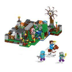 Lele 33040 (NOT Lego Minecraft 6 In 1 Garden ) Xếp hình Khu Vườn 406 khối