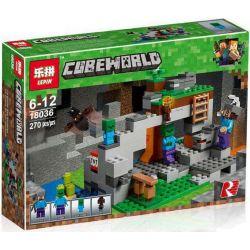 Lepin 18036 Minecraft 21141 The Zombie Cave Xếp hình Hang động Zombie 270 khối