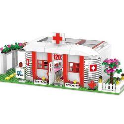XingBao XB-12009 Friends MOC Hospital Campus Xếp hình Bệnh viện Campus 590 khối