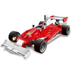 XingBao XB-03023 Technic The Red Power Racing Car Xếp Hình Xe Oto Đua Vượt Trội 2405 Khối