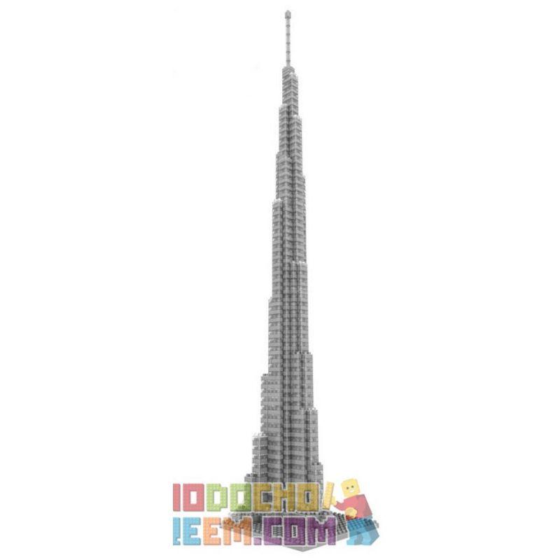 Loz 9370 Nanoblock Architecture Burj Khalifa Xếp hình Tháp Burj Khalifa 890 khối