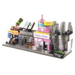 Sembo SD6030 SD6031 SD6032 SD6033 Mini Modular Dior Store-Cake Shop-BBQ Time-Book Store Xếp Hình Chuỗi Cửa Hàng đồ Trang Sức, Cửa Hàng Bánh Và Nhà Sách 454 Khối
