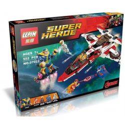 Decool 7120 Lepin 07022 Sheng Yuan SY576 Super Heroes 76049 Avenjet Space Mission Xếp hình nhiệm vụ của phi thuyền Biệt Đội Siêu Anh Hùng 523 khối