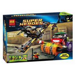 Bela 10228 Super Heroes 76013 Joker Steam Roller Xếp hình Phi thuyền người Dơi tấn công xe lu Joker 486 khối