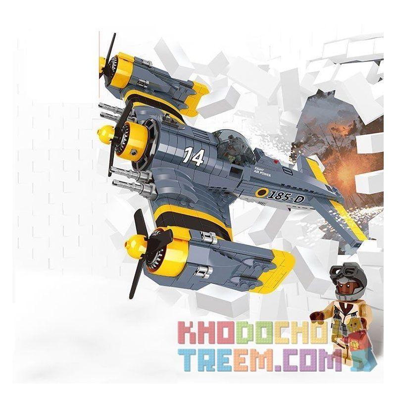 Lepin 22021 Military Army MOC Fighter Plane Xếp hình Máy bay chiến đấu cánh quạt 572 khối
