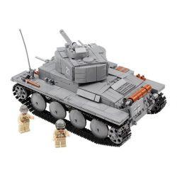 Kazi Gao Bo Le GBL Bozhi KY82009 Military Army German Panzer II Tank Xếp Hình Xe Tăng Đức Con Báo 2 868 Khối