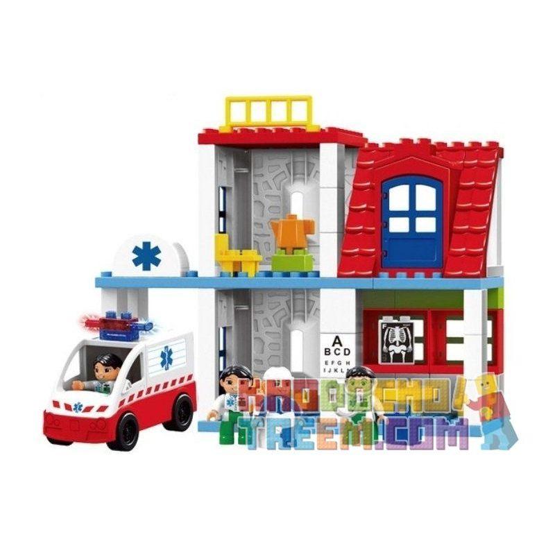 Lego Duplo 5695 Hystoys HG-1272 Doctor's Clinic Xếp hình phòng khám bác sỹ 60 khối