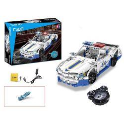 Doublee Cada C51006 C51006W (NOT Lego Technic Police Cruiser ) Xếp hình Xe Cảnh Sát Động Cơ Pin Sạc Điều Khiển Từ Xa 430 khối