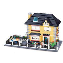 Wange 34051 Creator MOC Villa Xếp hình Biệt thự có bàn ăn ngoài trời 909 khối