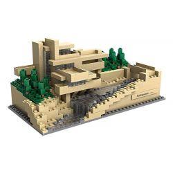 Loz 1016 Mini block Architecture Fallingwater Pennsylvania Xếp hình Nhà Trên Thác Nước 811 khối