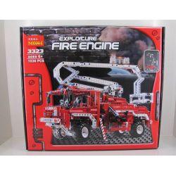 Decool 3323 Technic 8289 Fire Truck Xếp hình Xe Tải Cứu Hỏa (Mẫu 1) 1036 khối