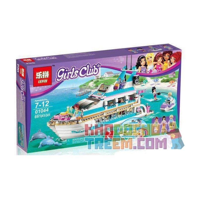 Lepin 01044 Bela 10172 Lele 79163 (NOT Lego Friends 41015 Dolphin Cruiser ) Xếp hình Du Thuyền Cá Heo 618 khối