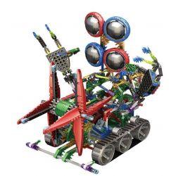 Loz 3030 OX- Eyed Robots Electric Nether Chariot Robot Xếp Hình Rô Bốt 4 Mắt động Cơ Pin Kết Hợp Loz-3027 Và Loz-3028 634 Khối