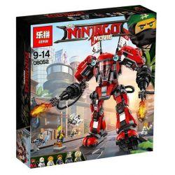 Lepin 06052 Lele 31074 Bela 10720 Ninjago Movie 70615 Fire Mech Xếp hình Người Máy Samurai Lửa Khổng Lồ Của Kai 1010 khối