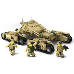 Kazi KY84042 KY84043 KY84044 KY84045 (NOT Lego Military Army 4 In 1 Mammoth Tank ) Xếp hình Xe Tăng 4 Trong 1 gồm 4 hộp nhỏ 1242 khối