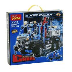Decool 3331 Technic 8273 Off Road Truck Xếp hình Xe Tải Lớn Có Cần Cẩu Nâng Người(Mẫu 1) 805 khối