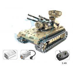 Qihui 8012 Technic MOC Anti-aircraft Tank Xếp hình Xe tăng phòng không điều khiển từ xa động cơ pin sạc 457 khối