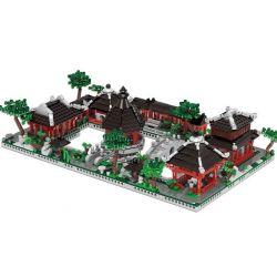 XingBao 01110 Mini Street MOC Series Suzhou garden Xếp hình 6 nhà vườn cổ ở Tô Châu 2479 khối
