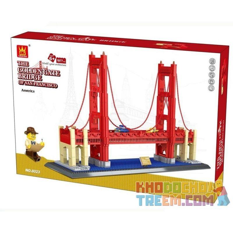 Wange 8023 Architecture The Golden Gate Bridge Of San Francisco Xếp Hình Cầu Cổng Vàng 1977 Khối