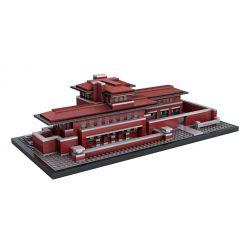 Loz 1018 Mini block Architecture Robie House Xếp hình Nhà Của Robie 2115 khối