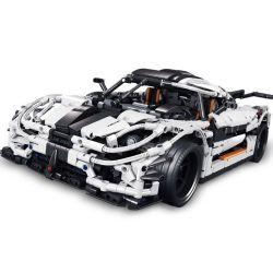 Lepin 23002 Yile 915A Technic Koenigsegg One Sports Car Xếp Hình Siêu Xe Koenigsegg One 3136 Khối