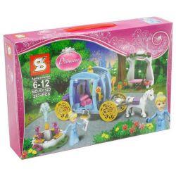 Sheng Yuan 323 SY323 (NOT Lego Disney Princess 41053 Cinderella's Dream Carriage ) Xếp hình Xe Ngựa Của Lọ Lem 287 khối
