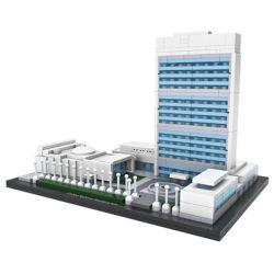 Loz 1014 Architecture 21018 The United Nations Headquarters Xếp hình Mô Hình Liên Hợp Quốc 616 khối