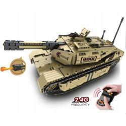 Qihui 9801 Technic M1A2 Abrams Tank Xếp Hình Xe Tăng M1A2 điều Khiển Từ Xa động Cơ Pin Sạc 1276 Khối
