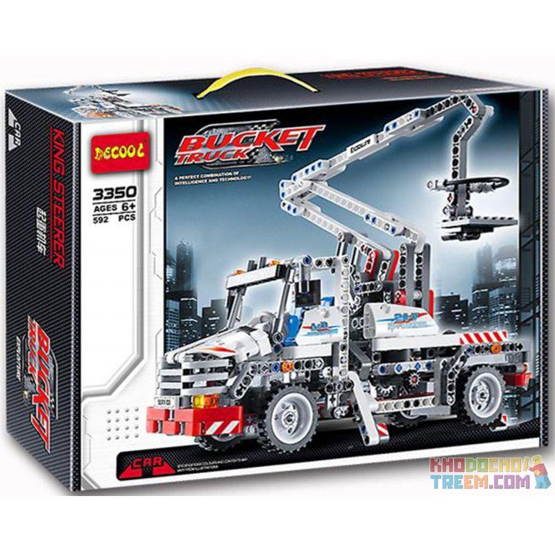 Decool 3350 Technic 8071 Bucket Truck Style 2 Xếp hình Xe Tải Bé Có Cần Trục Nâng Người (Mẫu 2) 592 khối