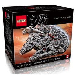 Lepin 05132 (NOT Lego Star wars 75192 Millennium Falcon ) Xếp hình Phi Thuyền Chim Ưng Ngàn Năm Khổng Lồ 8445 khối