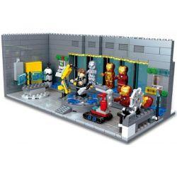 Sheng Yuan 305 SY305 (NOT Lego Super Heroes Iron Man Hall Of Armors ) Xếp hình Phòng Chứa Giáp Của Người Sắt 503 khối
