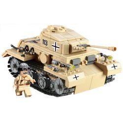 Kazi Gao Bo Le GBL Bozhi KY82008 Military Army German Panzer III Tank Xếp Hình Xe Tăng Đức Con Báo 3 548 Khối