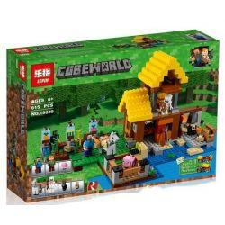 Lepin 18039 Sheng Yuan SY991 Decool 840 Minecraft 21144 The Farm Cottage Xếp hình Nông Trang 615 khối