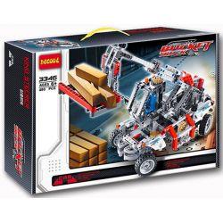Decool 3346 (NOT Lego Technic 8071 Bucket Truck ) Xếp hình Xe Cẩu Nâng Hàng Màu Trắng Đỏ (Mẫu 1) 593 khối