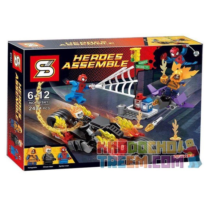 Lepin 07041 Sheng Yuan 841 SY841 (NOT Lego Marvel Super Heroes 76058 Spider-Man Ghost Rider Team-U ) Xếp hình Người Nhện Hợp Sức Ma Tốc Độ 248 khối
