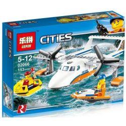 Lepin 02066 City 60164 Sea Rescue Plane Xếp hình Máy Bay Cứu Hộ Trên Nước 153 khối