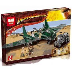 Lepin 31002 (NOT Lego Indiana Jones 7683 Fight On The Flying Wing ) Xếp hình Đánh Nhau Trên Cánh Máy Bay 401 khối