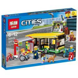 Lepin 02078 City 60154 Bus Station Xếp hình Trạm xe buýt 377 khối