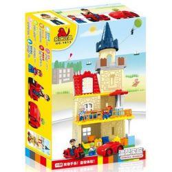Hystoys Hongyuansheng Aoleduotoys HG-1613 (NOT Lego Duplo Warm Family ) Xếp hình Gia Đình Ấm Áp 77 khối