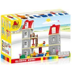 Hystoys Hongyuansheng Aoleduotoys HG-1612 (NOT Lego Duplo Warm Family ) Xếp hình Gia Đình Ấm Áp 85 khối