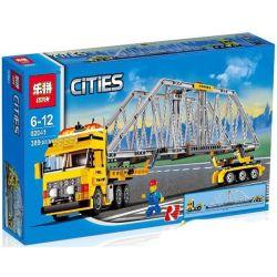 Lepin 02041 City 7900 Heavy Loader Xếp hình Xe Tải Nặng Màu Vàng 389 khối