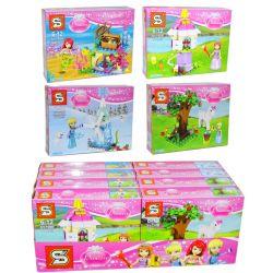 Sheng Yuan SY790 Disney Princess MOC Figs with Mini Builds Xếp hình Thiết kế trang phục công chúa 256 khối