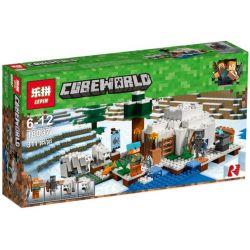 Lepin 18037 Lele 33148 Bela 10811 Sheng Yuan 998 SY998 (NOT Lego Minecraft 21142 The Polar Igloo ) Xếp hình Lều Tuyết Ở Vùng Cực 311 khối