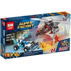 Lepin 07093 Sheng Yuan 1007 SY1007 Bela 10844 DC Comics Super Heroes 76098 Speed Force Freeze Pursuit Xếp Hình Tốc độ Quân đóng Băng 304 Khối