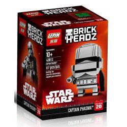 Lepin 43012 BrickHeadz 41486 Captain Phasma Xếp hình Chỉ huy Phasma 142 khối