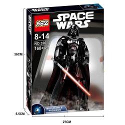 XSZ KSZ 326 (NOT Lego Star wars 75534 Darth Vader ) Xếp hình Người Máy Tàn Nhẫn Darth Vader 168 khối
